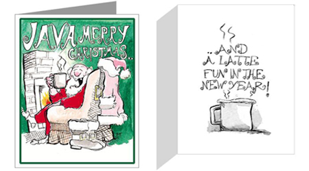 Coffee Christmas Cards.Coffee Christmas A Rich Delightful Christmas Card Java