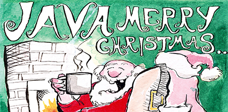 christmas coffee | Java Merry Christmas Cards